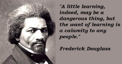 Frederick Douglass on learning