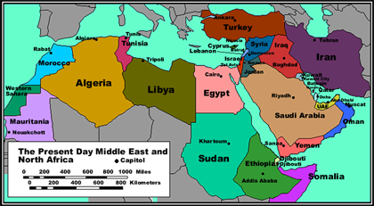 north Africa Middle East