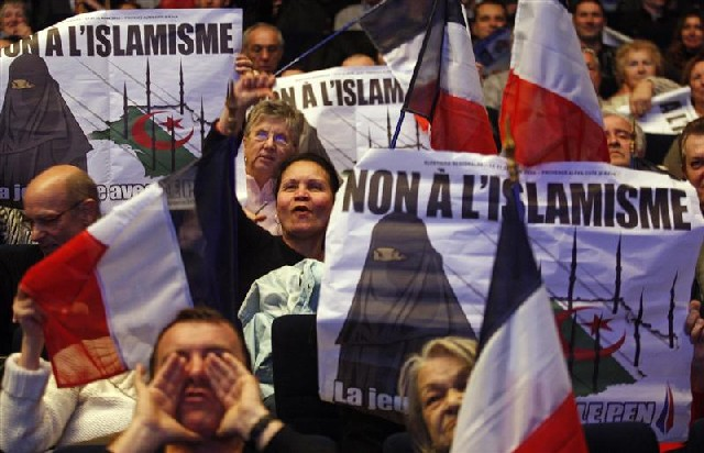 national front opposes islamization