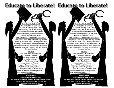 Educate to Liberate United Front fliers