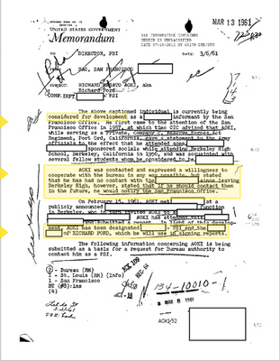 Richard Aoki FBI file FOIA
