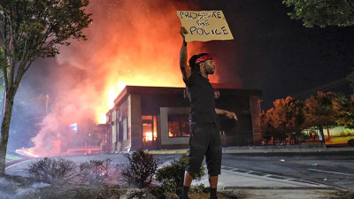 prosecute police burning wendys