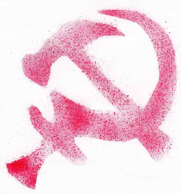 hammer and sickle red