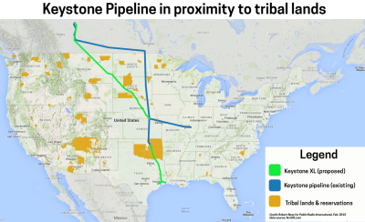 keystone XL pipeline over tribal lands