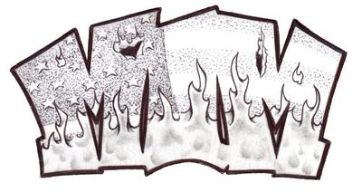 MIM Logo Burn Flag