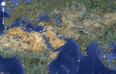 map of protests against anti-Muslim film