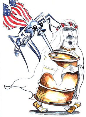 U.$. sucks Arab oil
