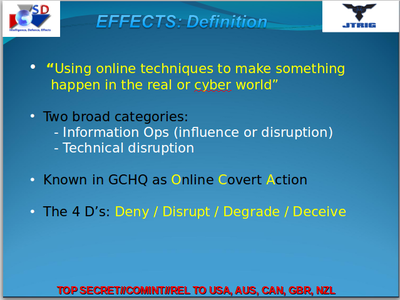 NSA and GCHQ presentation