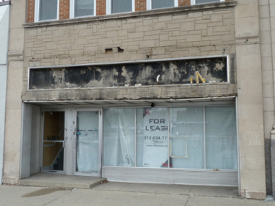 abandoned store front